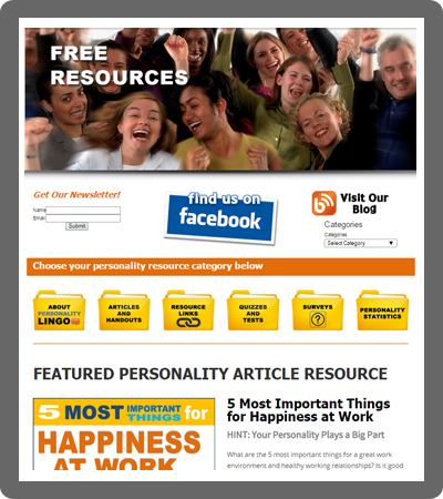 Free Personality Color Articles Handouts Resources
