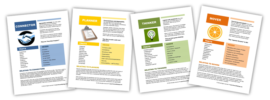 Personality Style Handouts
