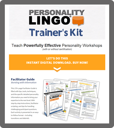 Personality Trainers Kits Personality Lingo Training