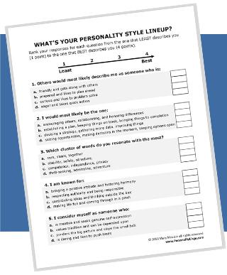 Printable Personality Test Mini Training Kit Personality Lingo,Exterior Paint Blue Lowes Paint Colors Chart Valspar